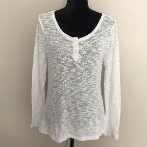 "White ""Charming Charlie's"" Long Sleeve Top - Sz M"